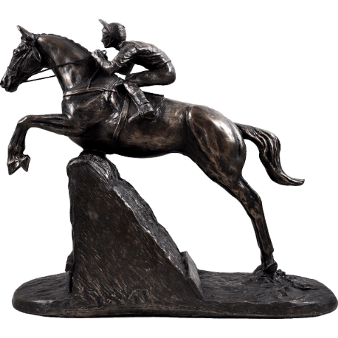 Steeple Chaser Cold Cast Bronze Sculpture